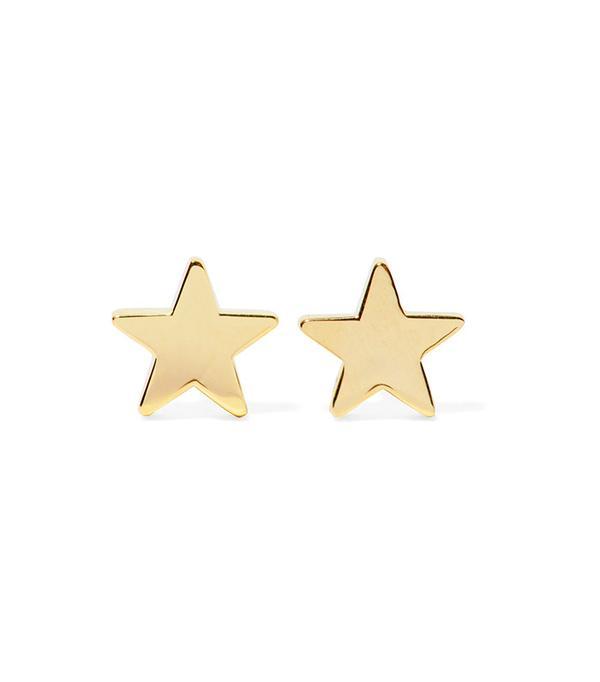 Jennifer Meyer Star 18-Karat Gold Earrings