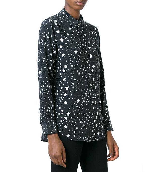 Equipment Stars-Print Shirt