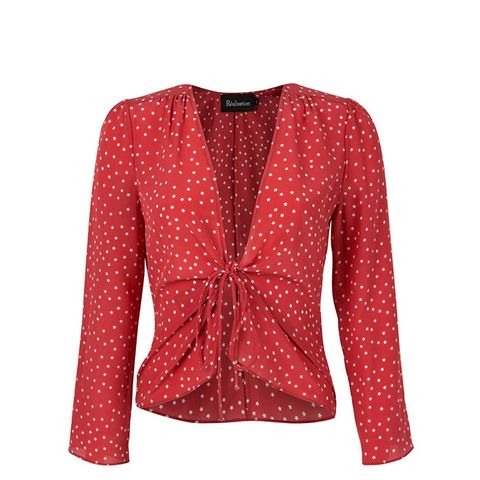 The Bianca Red Star Top