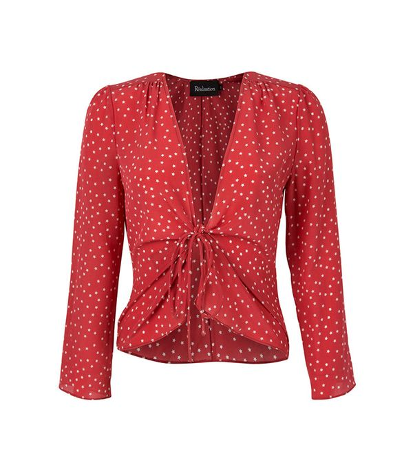 Realisation The Bianca Red Star Top