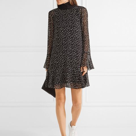 Marah Printed Silk-Chiffon Mini Dress