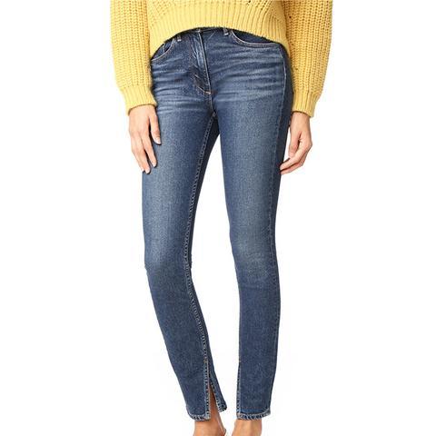 W3 Split-Seam Skinny Jeans