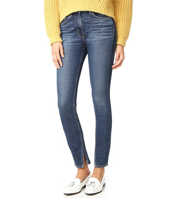 3x1 W3 Split-Seam Skinny Jeans