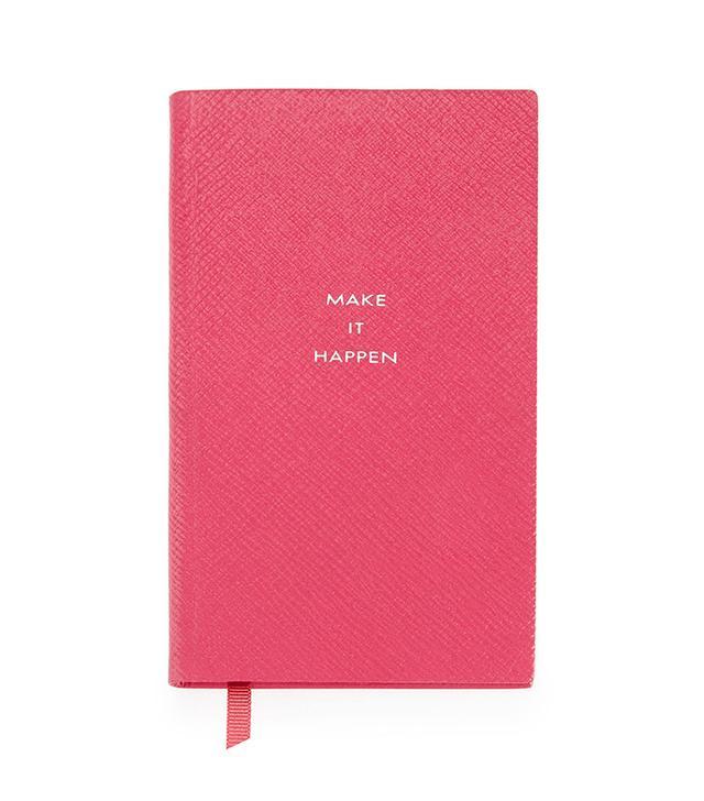 "Smythson ""Make it Happen"" Panama Notebook"