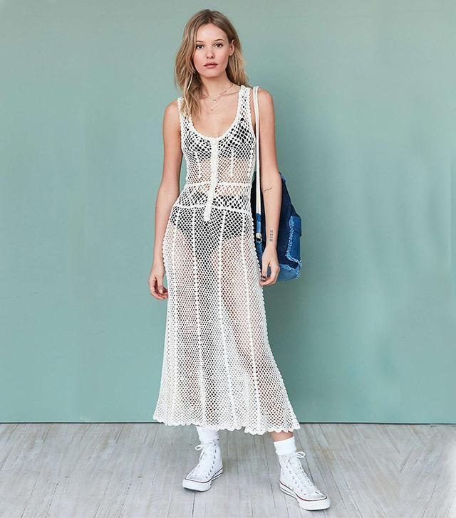 Kimchi Blue Crochet Midi Dress