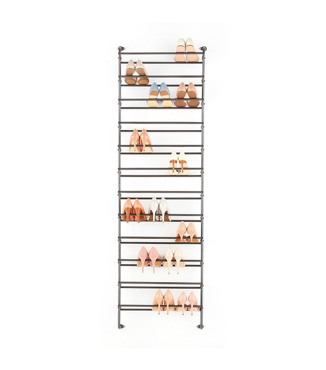 Container Store Gunmetal 36-Pair Over the Door Shoe Rack