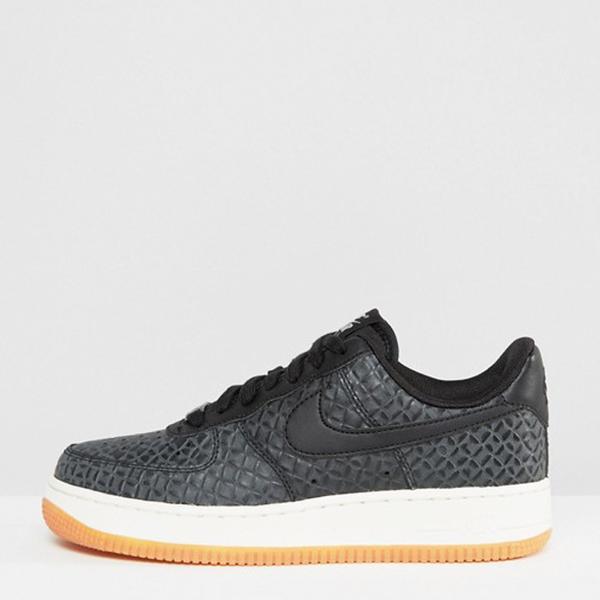 Jess Gavigan Juice Gee Small Feet Big Kicks: Nike Air Force 1 Premium Trainers In Black
