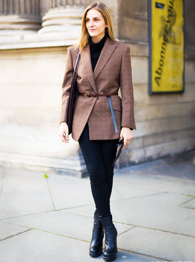 Leggings-and-blazer outfits