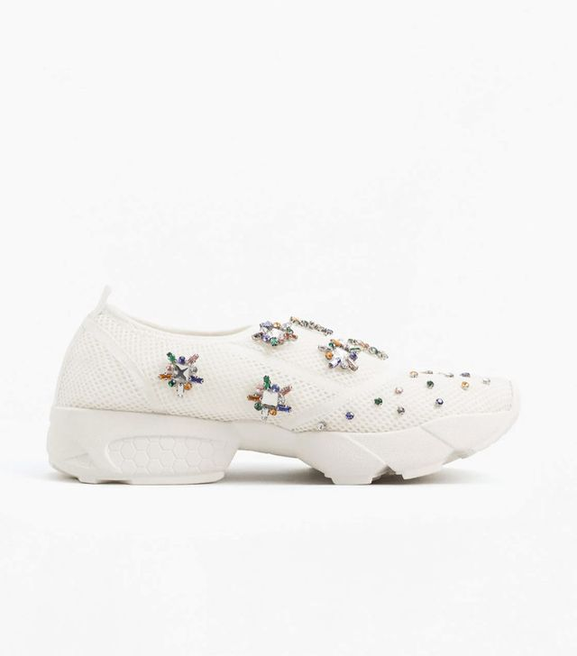 Mango Faceted Crystal Sneakers