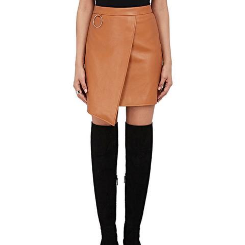Faux-Leather Miniskirt