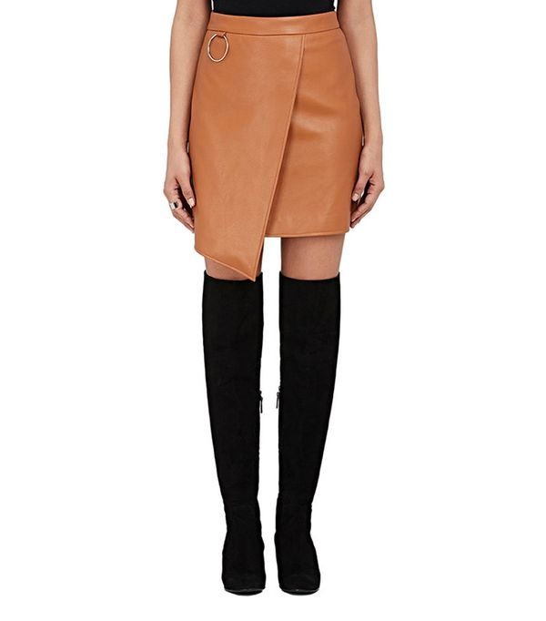 Andersson Bell Faux-Leather Miniskirt