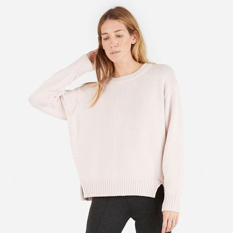 The Chunky Knit Cotton Crew Sweater