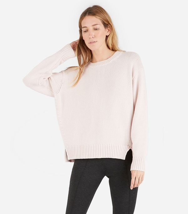 Everlane The Chunky Knit Cotton Crew Sweater