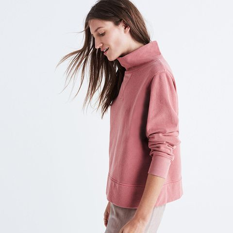 Garment-Dyed Funnelneck Sweatshirt