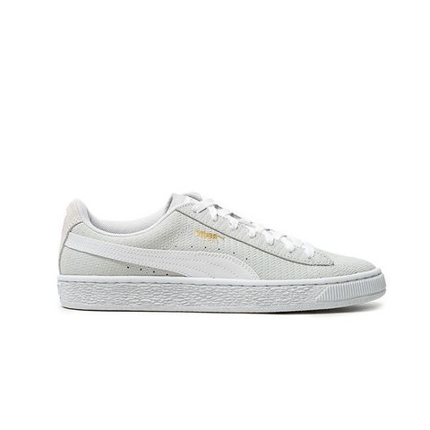 Suede Remaster Emboss Sneakers in White