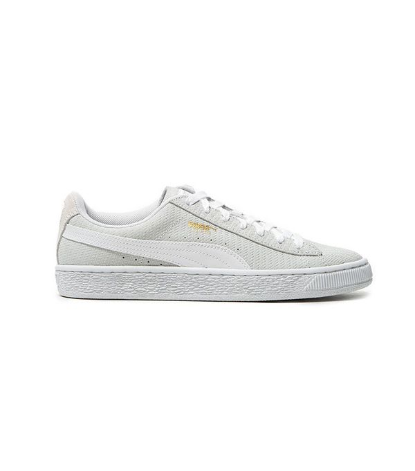 Puma Suede Remaster Emboss Sneakers in White