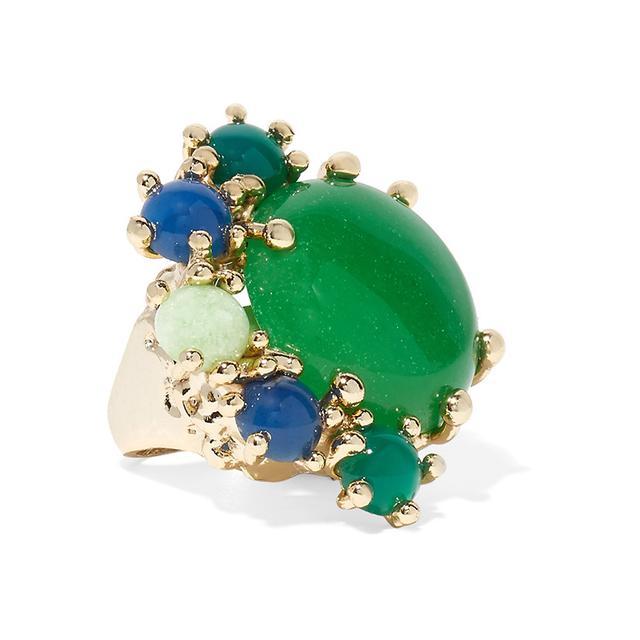 Rosantica Eden Gold-Tone Quartz Ring