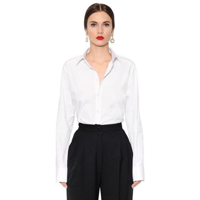 Dolce & Gabanna Oversized Stretch Cotton Poplin Shirt