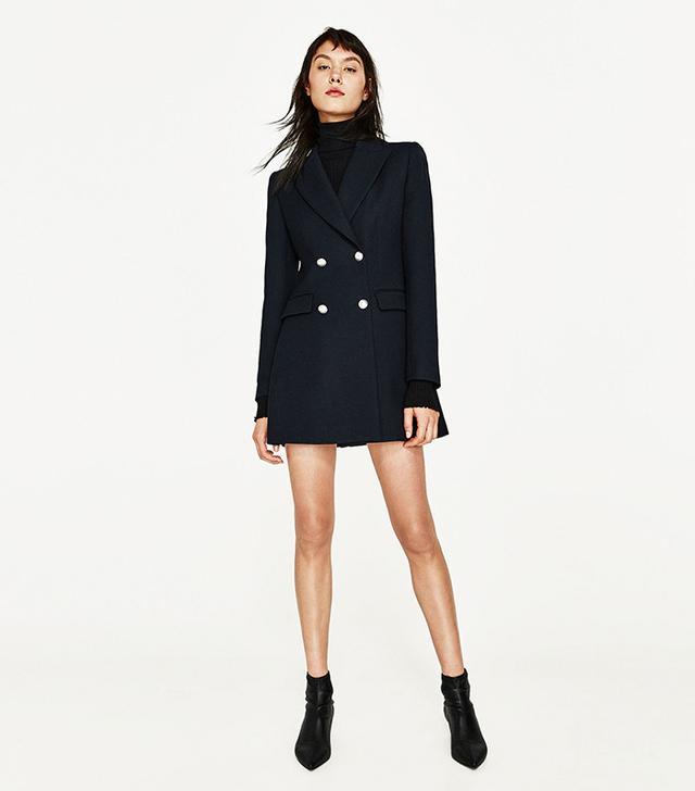 Zara Double-Breasted Frock Coat