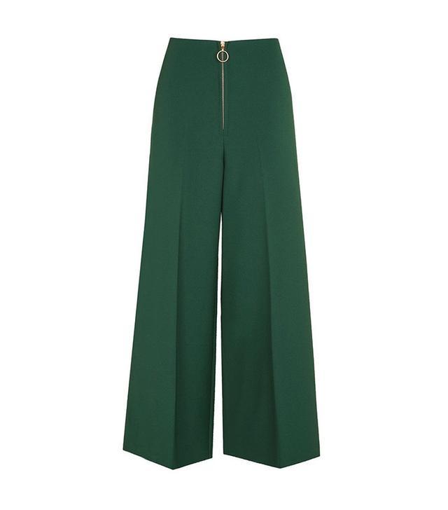 Topshop Zip Wide Leg Trousers