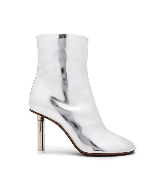 Vetements Leather Toe Ankle Boots