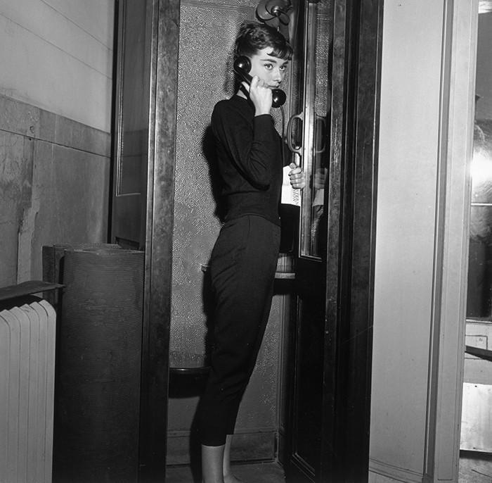 Audrey Hepburn black leggings