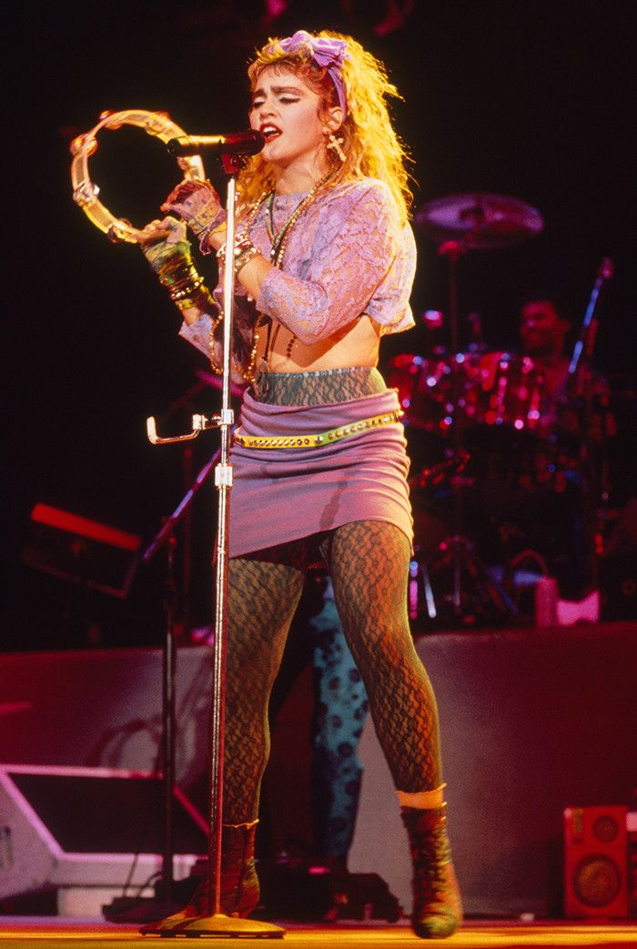 Madonna wearing leggings in the '80s