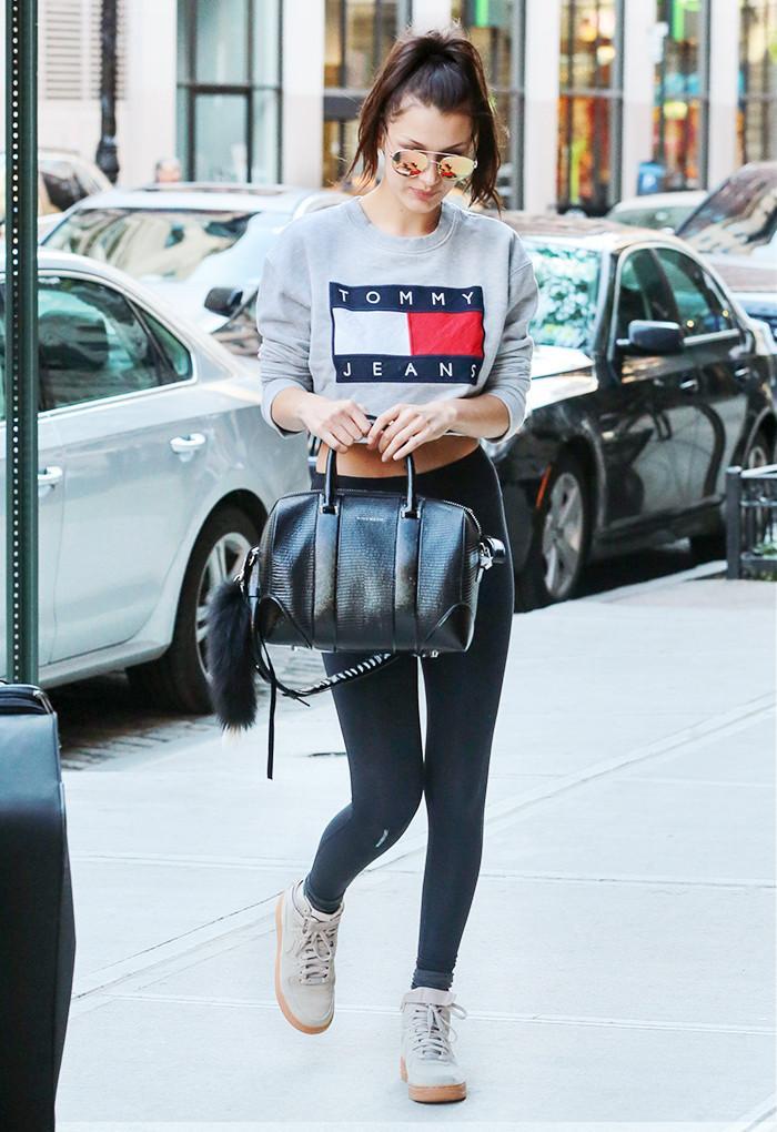 Bella Hadid, leggings