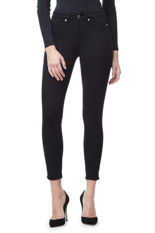 Good American Good Legs Crop in Black001