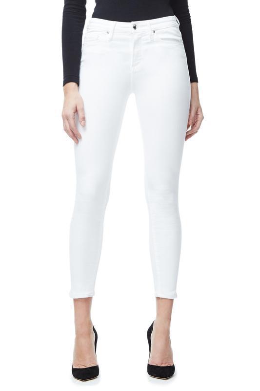 Good American Good Legs Crop in White001