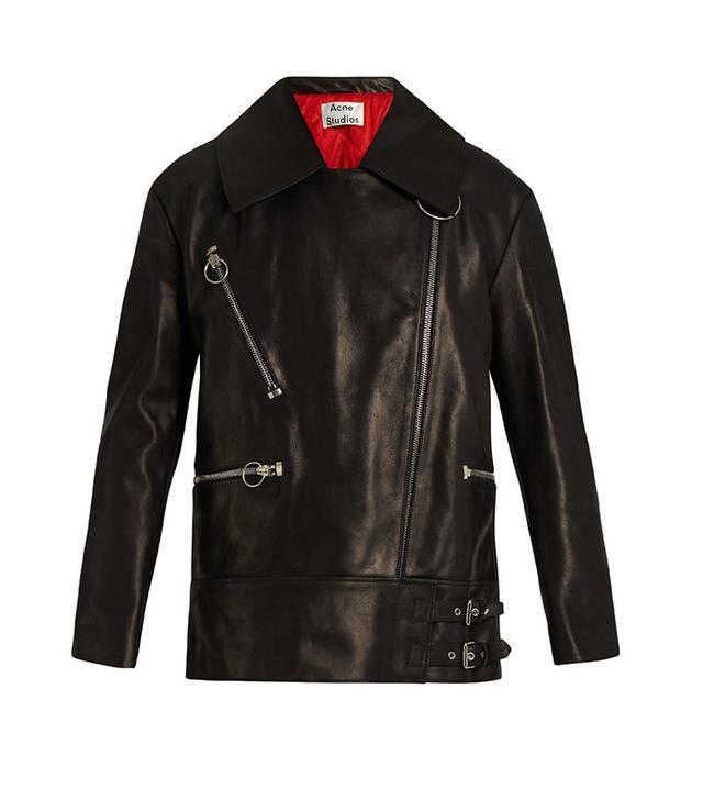 Acne Studios Morely Oversized Leather Jacket