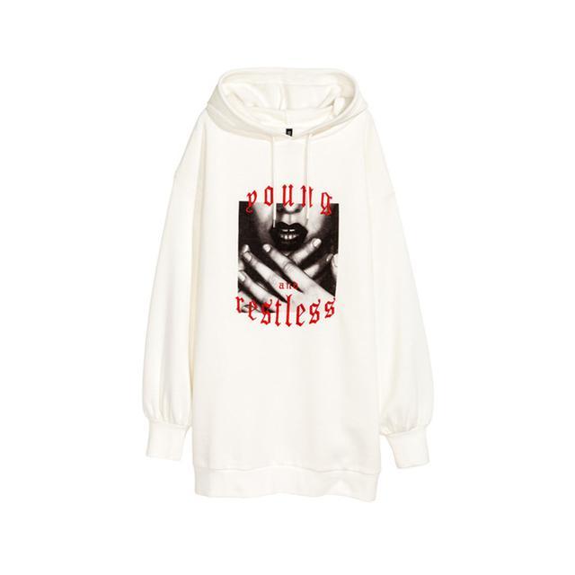 H&M Long Hooded Sweatshirt