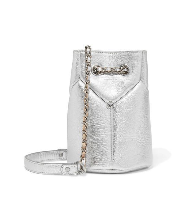 Jérôme Dreyfuss Popeye Mini Metallic Textured-Leather Bucket Bag