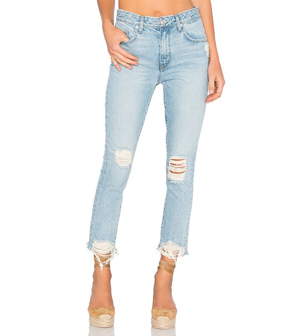 Lovers + Friends Logan High-Rise Tapered Jeans