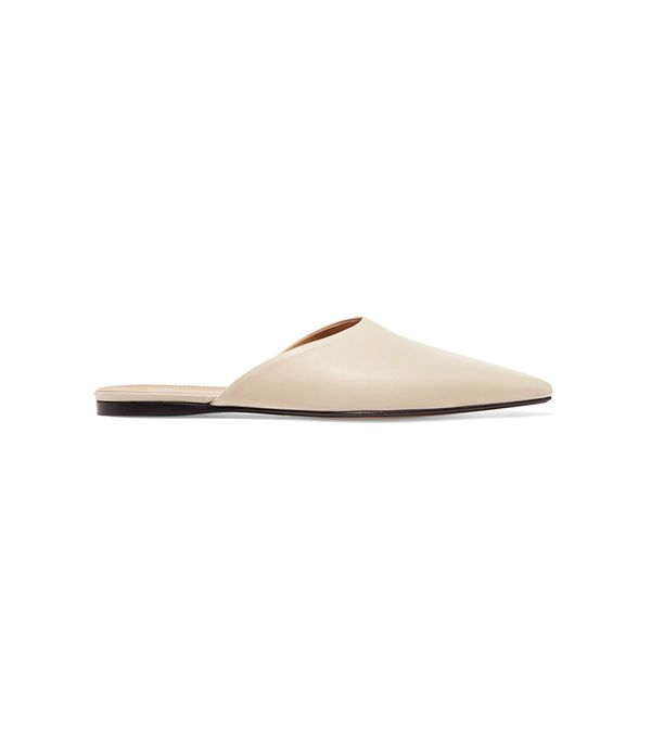 The Row Giacomo Leather Slippers
