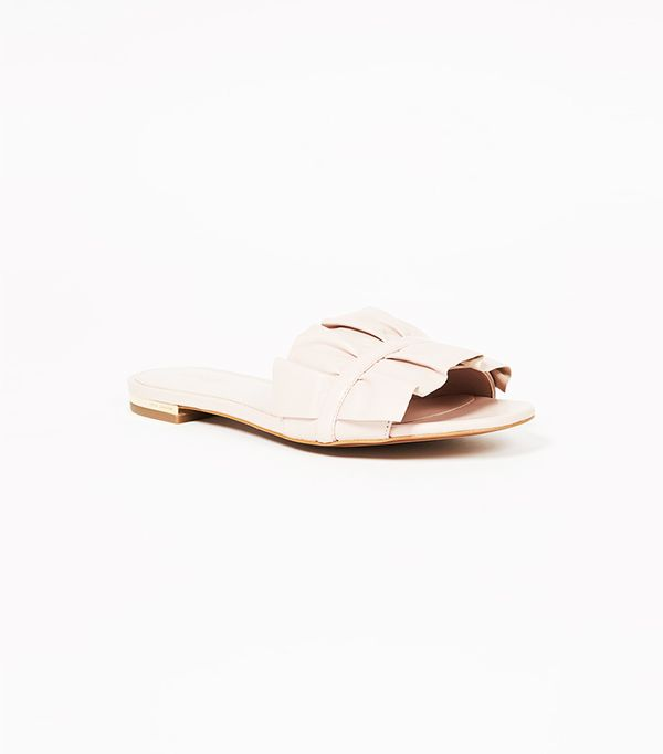 Michael Kors Bella Ruffle Slides