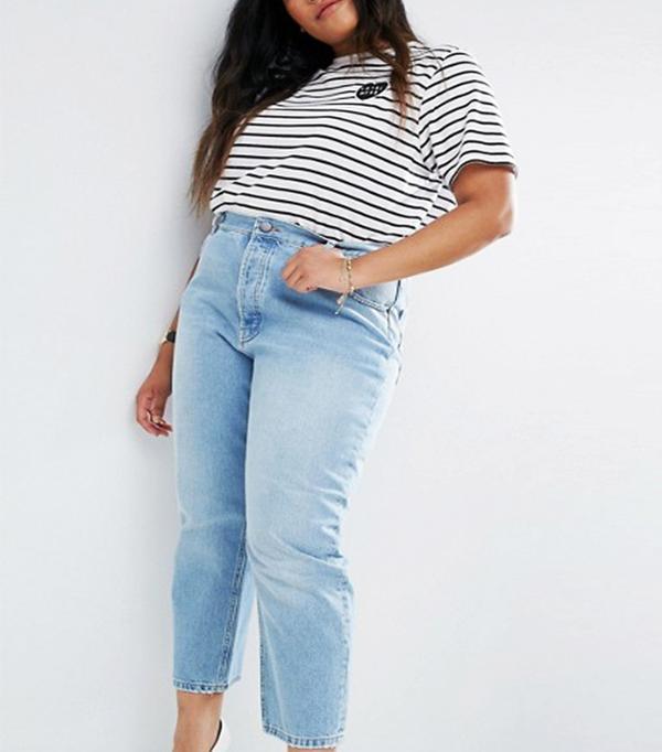 ASOS Curve Authentic Straight-Leg Jeans