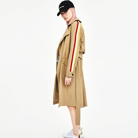 Trench Coat With Trims