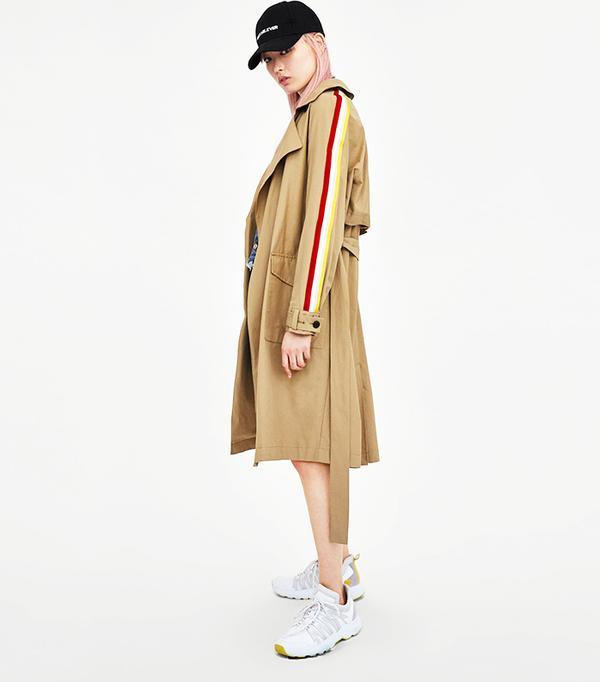 Zara Trench Coat With Trims