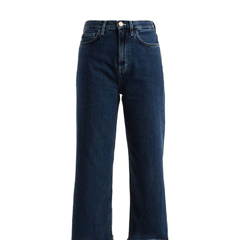 Caron High-Rise Wide-Leg Cropped Jeans