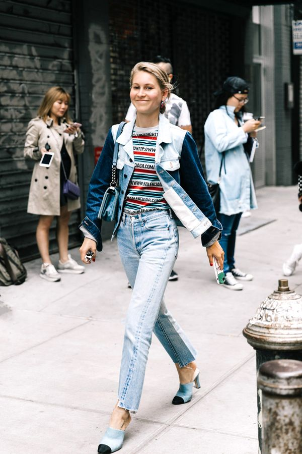 Denim on denim is always a great option. Just layer a colorful tee underneath the setso you'll look even cooler.
