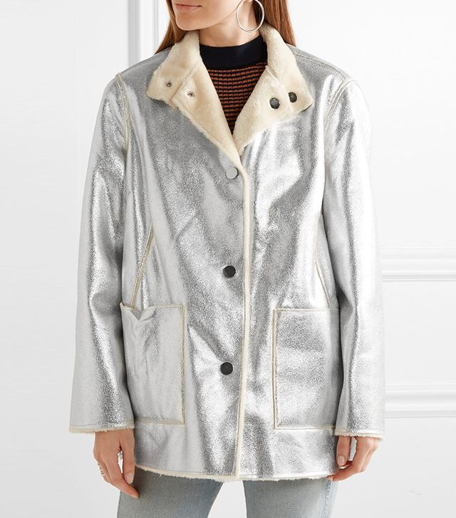 Opening Ceremony Culver Reversible Faux Shearling Coat