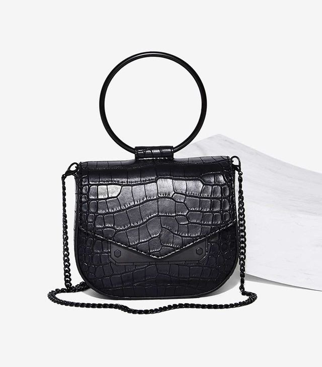 Nasty Gal Ring Leader Vegan Leather Crossbody Bag