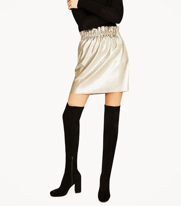 Most pinned Zara pieces: knee high boots