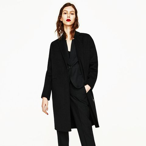 Wool Coat With Zip