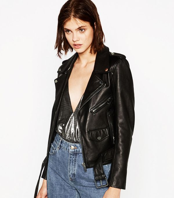 Most pinned Zara pieces: Zara Leather Jacket
