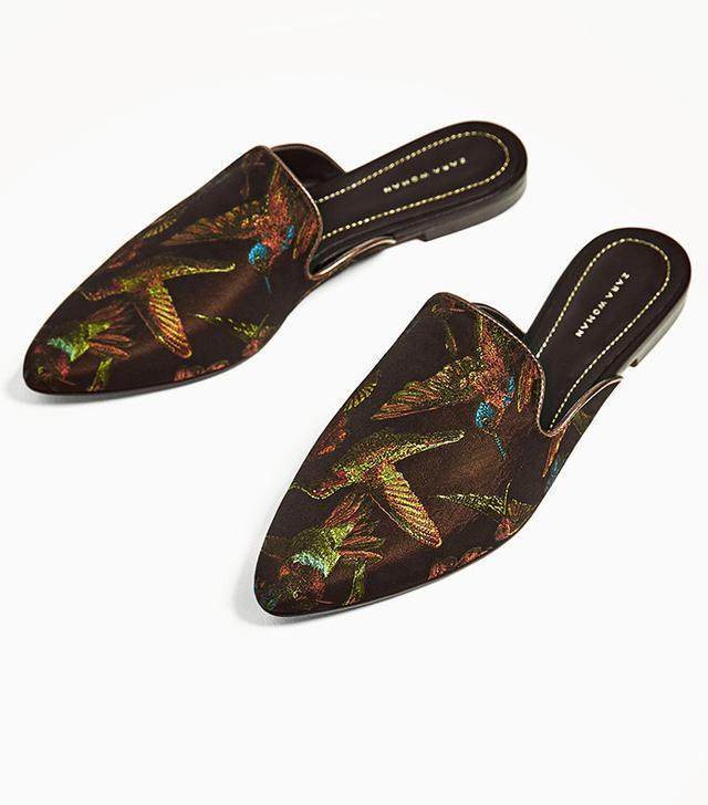 Zara Fabric Slingback Shoes