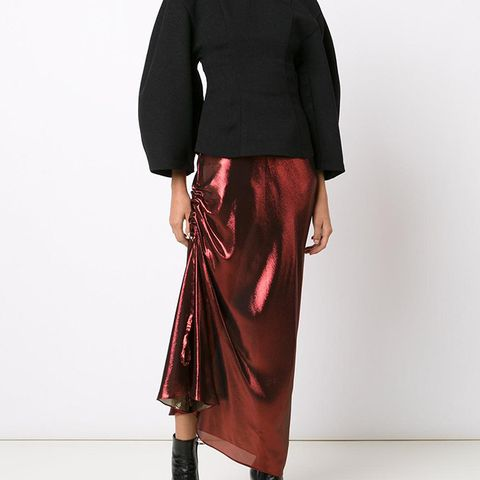 Ruched Detail Skirt