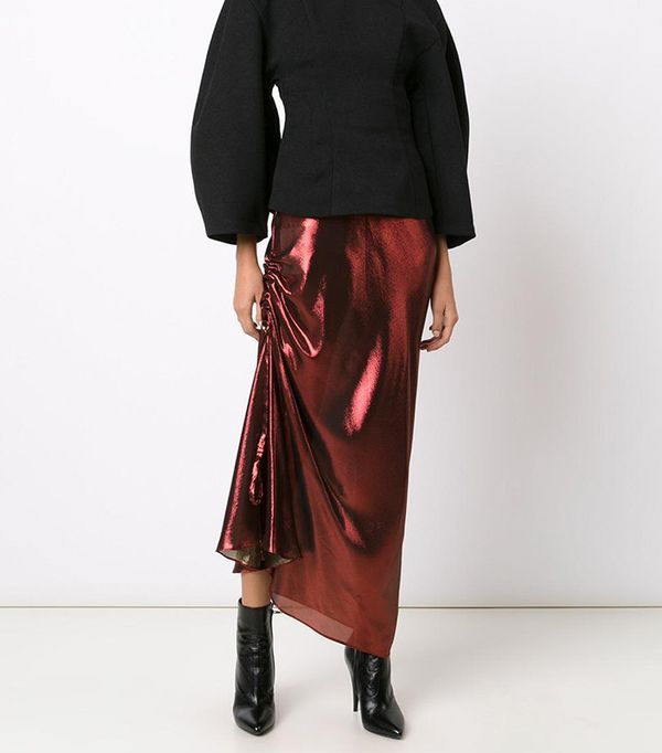 Ellery Ruched Detail Skirt