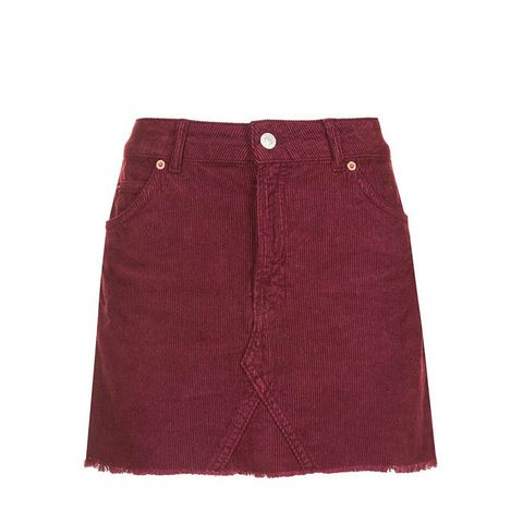 Burgundy Denim Skirt - Dress Ala
